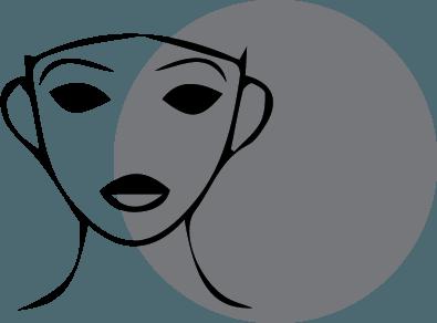 pictogramme visage relachement cutané